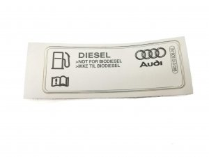 Fuel filler flap sticker Audi