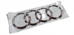 Chrome AUDI rings logo emblem badge tailgate A3 Q2 TT R8