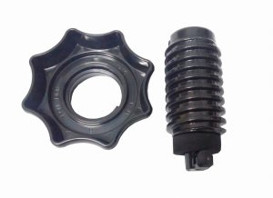 Spare wheel mount nut and bolt