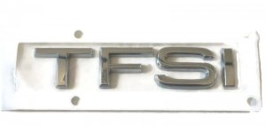 Chrome inscription TFSI badge emblem Audi A8 Q2 Q3 Q5 Q7