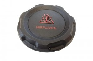 Engine coolant reservoir tank cap
