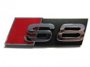 Front emblem S8 name plate Audi A8 S8 2004-2010