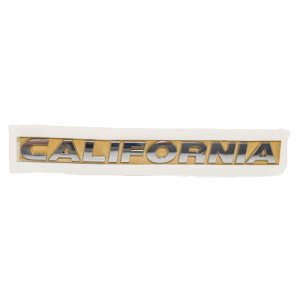 Chrome CALIFORNIA Inscription Tailgate emblem badge