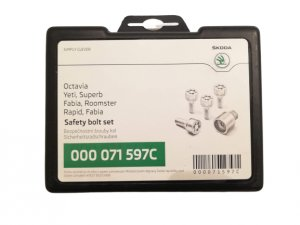 SKODA safety bolts set anti theft