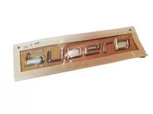 Chrome inscription SUPERB rear emblem logo SKODA Superb II 2008-2015