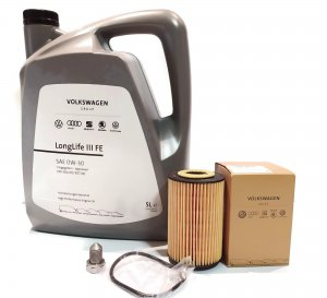 Engine filter and oil LONG LIFE  5l 0W30  1.6 2.0 TDI VW AUDI SEAT SKODA