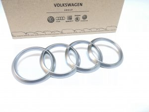 Audi engine cover emblem logo rings