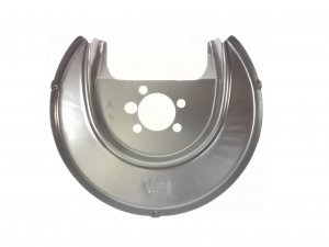 Rear brake disc cover plate splash panel