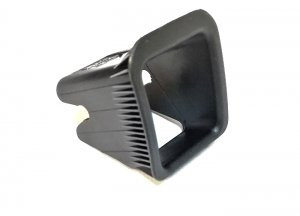 ISOFIX slot guide trim cover - black
