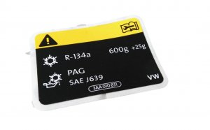 AC label sticker 600g R-134a