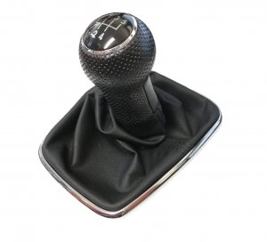 Gearstick knob with boot for gearstick lever leatherette 5-gear Volskwagen Golf Bora